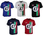 MENS LAMBRETTA TSHIRT CREW NECK  LOOSE FIT IN FIVE COLOURS ALL SIZES S TO 6XL