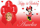 LARGE MINNIE MOUSE BIRTHDAY POSTER BANNER PERSONALISED ANY NAME THEME TEXT PHOTO
