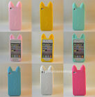3D Cute Cartoon koko Cat Ear Silicone Case cover for iphone X 8 7 6S plus 5s 5C