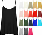 New Plus Size Womens Plain Strappy Sleeveless Ladies Swing Cami Vest Top 16 - 22