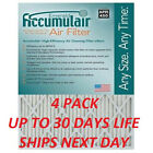 4 ACCUMULAIR EMERALD PLEATED MERV 6 HOME AIR FILTERS FURNACE CONDITIIONING SMAL