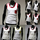 2014New JS Strong Mens MUSCLE Running Singlet Gym Soft Tank Top Wife Beater PJ