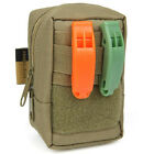 Dual-band Frequency Loud voice Survival Emergency Whistle w Back Clip for Hiking