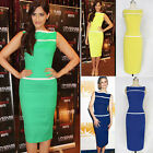 Womens Vintage Rockabilly Pinup Bodycon Fitted Party Pencil Shift Sheath Dress V