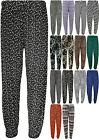 New Plus Size Womens Print Tie Full Length Stretch Harem Trousers Pants 14-28