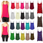 NEW WOMENS LADIES SLEEVELESS STRAPPY SWING VEST CAMI CASUAL TANK TOP SIZE 8-26