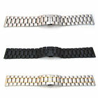 Watch Strap Bracelet STAINLESS STEEL 18mm-30mm Band Hidden Deployment Clasp S54