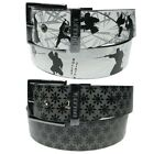 Mens Womens High Quality Pyramid Studded Leather Lined Belts Removable Buckle