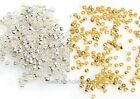 New 500Pcs Silver/Gold Plated  Copper Rondelle Mini Spacer Beads 2mm For Craft