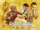 FLOYD MAYWEATHER vs ROBERT GUERRERO OFFICIAL ON SITE POSTER AND SHIRT PACKAGE