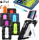 Hybrid Rubber Shock Proof Heavy Duty Hard Case Back Cover for Apple iPad & mini