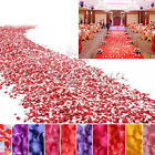 1000Pcs Multicolor Silk Flowers Rose Petals Wedding Party Decoration Favours 5cm
