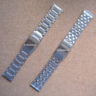 Mens Stainless Steel Adjustable Deployment Watch Strap Bracelet Band 20mm 22mm