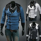 Assassin's Creed III 3 Desmond Cosplay Costume Hoodie Coat Jacket blue gray