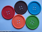 Big Blue Button Silicone Drinks Coaster Mat Fun Novelty Kitsch (163)