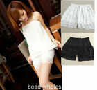 Sexy Fashion NEW Mini Lace Tiered Short Skirt Under Safety Pants Shorts