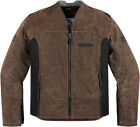 ICON 1000 OILDALE MOTORCYCLE STREET RIDING JACKET BROWN NEW 2014