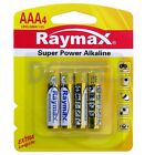 RAYMAX® GOLD 1.5V Super Alkaline AA / AAA Battery - 4PCS PACK