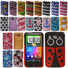 For HTC Inspire 4G Design Pattern DIAMOND BLING Crystal Hard Case Phone Cover