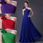 Stunning Ladies Green Purple Blue Red Long Formal Evening Bridesmaid Dress Gowns
