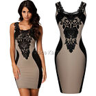 Women's Celeb Pinup Tunic Bodycon Slim Fit Wear To Work Sleeveless Pencil Dress