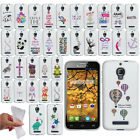 For Alcatel One Touch Fierce 7024W Art Design TPU Silicone Skin Case Phone Cover