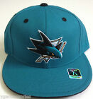 NHL San Jose Sharks Reebok Fitted Cap Hat NEW