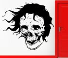 Wall Stickers Vinyl Decal Skull With Hair Scary Creepy Gothic Decor  (z2317)