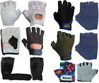 Gym Exercise Cycling Black Leather Lycra Green Multi Color Children Gloves