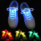 WATERPROOF LED SHOE LACES NEON GLOW IN THE DARK STICK GADGET RAVE PARTY FUN JS
