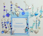 """Something Blue"" Bridal Good Luck Hearts Charm for Bouquet/Garter with Gift Tag"