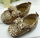 Classic Leopard Toddler Baby girl Soft bottom crib Shoes Size 3-6 6-9 9-12Month