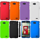 For LG Optimus L90 D405 D415 Rubberized COLOR Hard Shell Case Phone Cover + Pen