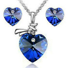 Austrian Crystal Elements Silver Plated Jewellery Set Necklace Earrings Set C02