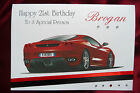 Personalised Handmade Birthday Card Ferrari Car Red 18th 21st 30th 60th (1560)
