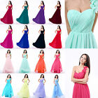 New Long Chiffon One Shoulder Bridesmaid Dresses Formal Prom Party Evening Gown