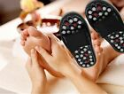 New Reflexology Sandals Massage Slippers Foot Healthy Shoe Massager Black LA