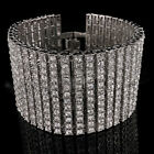 14k Gold Silver Black Canary 12 ROW Lab Diamond Iced Out Chain HipHop Bracelet