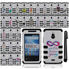 For Huawei Ascend Plus H881C Valiant Y301 IMPACT HYBRID HARD Case Cover + Pen