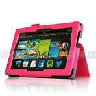 "2013 All New Kindle Fire HD 7"" 2nd Gen Flip Pattern PU Leather Smart Case Cover"