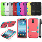 For Samsung Galaxy Mega 6.3 KICKSTAND Hybrid Rubber HARD Case Phone Cover + Pen