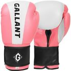 Ladies Pink Boxing Gloves Gel Womens Pads Sparring Punch Bag Kick MMA Mitts Gym
