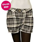 Ladies Womens George Check Shorts Button and Zip Closure 2 Hip 2 Front Pockets