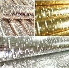 Mini Mosaic Tiles Luxury Metallic Design Glitter Silver/gold foil wallpaper roll