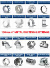 """Metal 4 inch /100mm dia Ducting Parts n Fittings for 4"""" duct or extractor fan"""