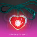 Light Up Glitter Heart Necklace Flashing Necklaces