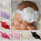 New Lot of pcs Girls Baby Kid Lovely  Satin Beaded Flower Elastic Headband