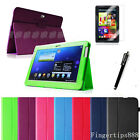 Samsung Galaxy Tab 2 10.1 P5100 P5110 Leather Case Cover/Screen Protector/Stylus