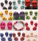 20pcs Man-made Turquoise Skull Spacer Loose Beads New For Bracelet 10/12mm