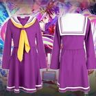 HOT sell! New NO GAME NO LIFE Shiro School Uniforms Cosplay Costume Dress